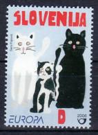 1369/ Slowenien Slovenia Slovenie Europa CEPT 2006 Mi.No. 587 ** MNH Europa: Integration Integration Of Immigrants- Cats - Europa-CEPT