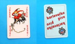 KARLOVACKO BEER - Joker Card ( Croatian Famous Beer Brand ) * Poker Swap Playing Cards * Bière Bier Cerveza Birra - Playing Cards (classic)