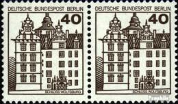 Berlin (West) 614A Wp Horizontale Couple Neuf Avec Gomme Originale 1980 Châteaux Et Serrures - [5] Berlino