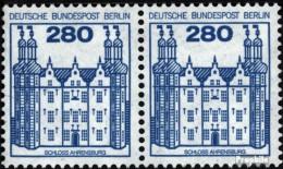 Berlin (West) 676A Wp Horizontale Couple Neuf Avec Gomme Originale 1982 Châteaux Et Serrures - [5] Berlino