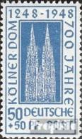 Bizonale (Allied Cast) 72Z Un Neuf Avec Gomme Originale 1948 Cologne Dom - American/British Zone