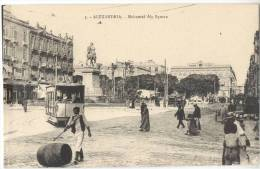 Afrika Egypte Alexandrie Mohamed Aly Square Animee Tram Alexandria Tramway Ägypten Streetcar Straßenbahn - Tramways