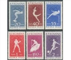 Romania 1960 Olympic Games Rome I  Mi 1847/52 (**) MNH XF - Summer 1960: Rome
