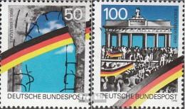 RFA (FR.Allemagne) 1481II-1482II (complète.Edition.) Bloc De Timbres Individuels Oblitéré 1990 Cas Le Mur - [7] Repubblica Federale