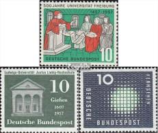 RFA (FR.Allemagne) 256,258,267 (complète.Edition.) Neuf Avec Gomme Originale 1957 Fribourg, Verser, Télévision - [7] Federal Republic