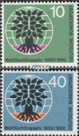 RFA (FR.Allemagne) 326-327 (complète.Edition.) Timbres Prémier Jour 1960 Fluechtlingsjahr - [7] Federal Republic