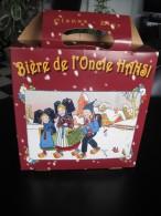 Carton D´emballage D´un Pack De 6 Bouteilles De Bière De Noël De L´Oncle Hansi (Brasserie De Saint-Pierre) - Autres Collections