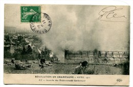 CPA  51   :  AY  Révolution En Champagne 1911  Maison  Geldermann   A   VOIR   !!!! - Ay En Champagne
