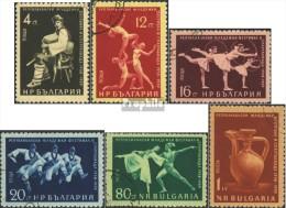 Bulgarie 1123-1128 (complète.Edition.) Oblitéré 1959 Festival Le Bulgare Jeunesse - Usati