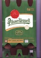 Carton D´emballage D´un Pack De 6 Bouteilles De Bière Pilsner Urquell Brewed In Pilzen Czech - Autres Collections