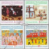 Bulgarie 2333-2336 (complète.Edition.) Oblitéré 1974 Dessins D'enfants - Bulgaria