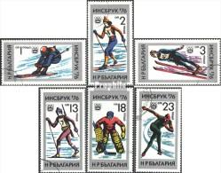 Bulgarie 2463-2468 (complète.Edition.) Oblitéré 1976 Olympe. Jeux D'hiver, Innsbruck - Bulgaria