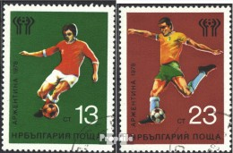 Bulgarie 2654-2655 (complète.Edition.) Oblitéré 1978 Football-WM '78, Argentine - Bulgaria