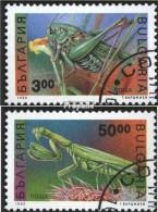Bulgarie 4016-4017 (complète.Edition.) Oblitéré 1992 Insectes - Bulgaria