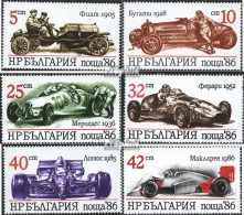 Bulgarie 3537-3542 (complète.Edition.) Neuf Avec Gomme Originale 1986 Voiture De Course - Bulgaria