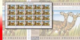 Rwanda 0451**  20c Akagera II Antilope - Feuille / Sheet de 20  MNH