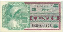 5  cent Military Payment Certificate  serie 661   P.M.64  1969   XF