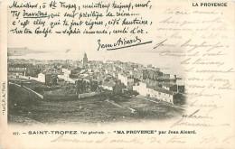 Cpa SAINT TROPEZ 83 Vue Générale - Ma Provence Par Jean Aicard - Saint-Tropez