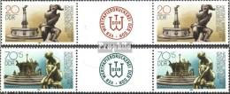 DDR 3265ZW-3266ZW Paire Avec Interpanneau  (complète.Edition.) Neuf Avec Gomme Originale 1989 Briefmarkenausst. - [6] République Démocratique