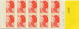 LIBERTE 2,20 F Rouge -  2 Carnets YT 2427 C2b  - ERREUR DE NUMEROTATION ET VARIETE - Usage Courant