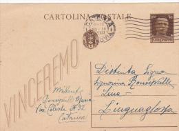 Italy 1943 Postal Card 30c Used - 1900-44 Vittorio Emanuele III