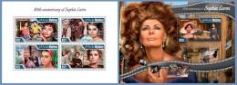 mld15109ab Maldives 2015 Cinema Sophia Loren 2 s/s