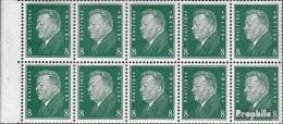 Allemand Empire Hbl58X Ci-dessous Filigrane Avec Charnière  1928 Reich Président - Duitsland