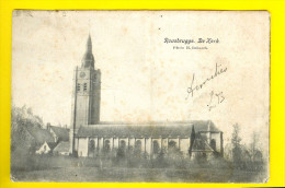 DE KERK VAN ROUSBRUGGE-HARINGHE gelopen in 1906 = ROESBRUGGE HARINGE deel van POPERINGE      2432
