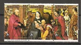 AITUTAKI - 1975  VAN DER WEYDEN  Adorazione Dei Re Magi, S.Culumba Altarpeace (Alte Pinakothek, Monaco) 3v.  Nuovo** MNH - Religion