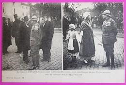 Cpa Bergeret Chateau Salins Général Daugan Commandant De La Division Marocaine Carte Postale 57 Moselle Non Ecrite - Bergeret
