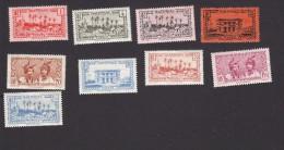 Martinique, Scott #133, 136, 138-140, 143, 149, 160-161, Mint Hinged, Scenes Of Martinique, Issued 1933-40 - Martinique (1886-1947)