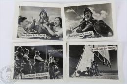 4 Old Trading Card/ Chromo Topic/ Theme Cinema/ Movie - Spanish Advertising - Don Quixote Of La Mancha - Cromos