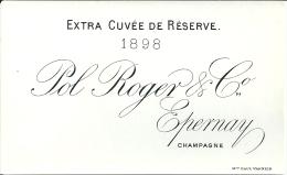 Etiquette CHAMPAGNE Millésime 1898 - Champagne