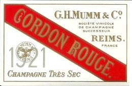 Etiquette CHAMPAGNE Millésime 1921 - Champagne