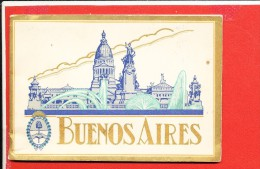 Livre Sur Buenos Aires 15 Pages Nombreuses Illustration Ancienne - Books, Magazines, Comics