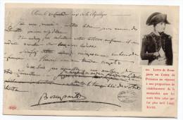 Histoire-Lettre De Bonaparte Au Comte De Provence En Réponse à Une Proposition De Rétablissement....+ Tard Louis XVIII - Histoire