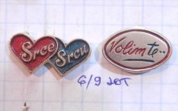 ´´I LOVE YOU & HEART TO HEART´´ Box Of Chocolates ZVECEVO Pozega (Croatia) Boîte De Chocolats Chocolate Chocolat / LOT - Food