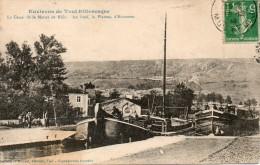 ENVIRONS DE TOUL PITTORESQUE LE CANAL DE LA MARNE AU RHIN AU FOND LE PLATEAU D'ECROUVES - Toul