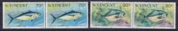 St. Vincent 1976 Mi. (2x) 449 I & (2x) 450 I Meeretiere Fish Fische (Jahreszahl 1976) MNH** - St.Vincent (...-1979)