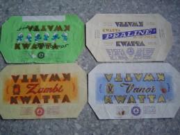 Chocolat Kwatta  4 Vieux Emballages - Oude Documenten