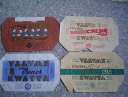 Chocolat Kwatta  4 Vieux Emballages (lot 2) - Oude Documenten