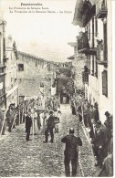 3 Tb Cpa Fuenterrabia-Procession De Semana Santa -Calle Mayor-Puerta Principale - Espagne