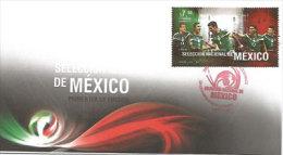 MEXIQUE.Selection Nationale Du Mexique (Marquez,Peralta,Hernande Z,Layùn) FDC Année 2014 - Clubs Mythiques