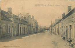 58 DORNES  Route De Lucenay       2 Scans - Non Classés