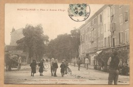 MONTELIMAR -- Place Et Avenue D'Aygu - Voyagée 1906 - Montelimar