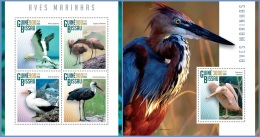 gb15107ab Guinea Bissau 2015 Marine birds 2 s/s