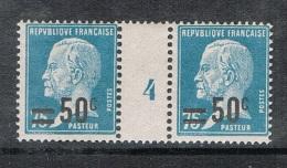 FRANCE N°219 N*  En Paire Millésimée 4