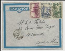 COTE D´IVOIRE - 1939 - ENVELOPPE Par AVION De ABIDJAN Pour MARSEILLE - Côte-d'Ivoire (1892-1944)