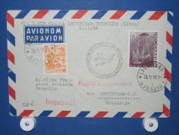 FFC First Flight 137 Amsterdam - Tripoli Lybië 1958 - A512b (nr.Cat DVH) - Libië