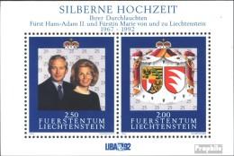 Liechtenstein Bloc 14 (complète.Edition.) Neuf Avec Gomme Originale 1992 Argent Mariage - Blokken